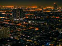 ночь, город, bangkok
