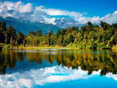озеро, фото, zealand