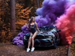 дым, color, бомба