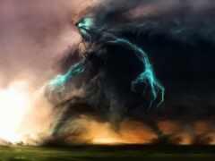 lightning, буря, monster