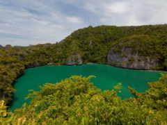 озеро, природа, emerald