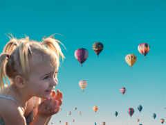 воздушный шар, небо