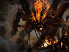 демон, демоны, огонь