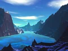 природа, landscape, blue