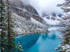 озеро, banff, national