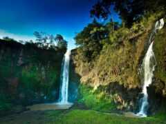 водопад, природа, озеро