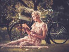 велосипеде, фото, девушка