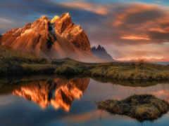красивые, горы, водах