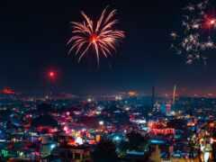 салют, firework, город