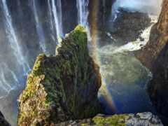 природа, водопад