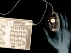 рентген мыши, клавиаутры и руки