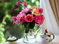 букет, цветов, роз