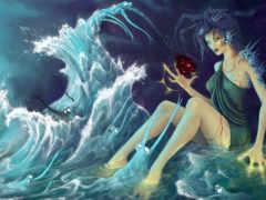 вода, морская