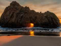 пляж, pfeiff, rock