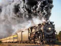 поезд, дым, iron