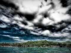 пасмурный, погода, море