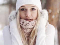 зимой, devushki, особенный