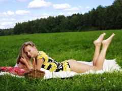 devushki, девушка, траве