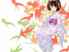 haruhi, suzumiya Фон № 29800 разрешение 1920x1200
