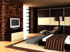 спальня, белая, чёрно