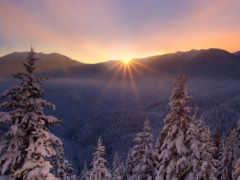 рассвет, winter, zima