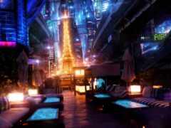 cyberpunk, synthwave, париж