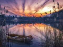 landscape, natural, закат