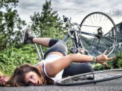 велосипеда, травм, пасть