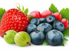 ягоды, белом, fone