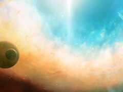 planet, свет, nebula
