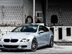 bmw, silver, машины