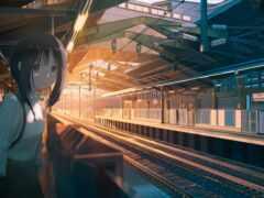 станция, anime, железный