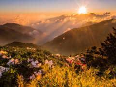 sun, гора, рассвет