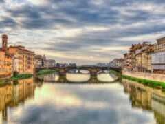 italian, firenze, река
