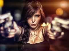 devushki, девушка, оружием