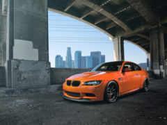 bmw, оранжевый, машины