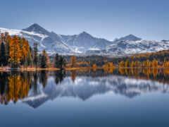 гора, алтай, озеро