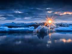 закат, природа, небо
