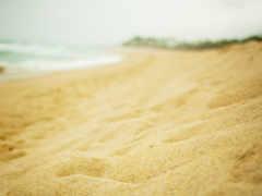 arena, pantalla, playa