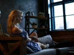 sit, женщина, blonde