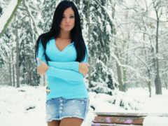 девушка, winter, devushki