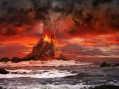 вулкан, rings, volcanoes