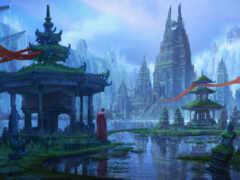 mona, voda, башня
