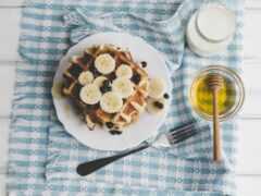 fork, черника, завтрак