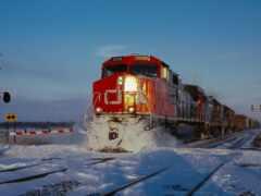 поезд, снег, грузовой