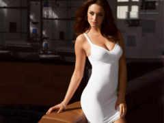 devushki, обтягивающих, платье