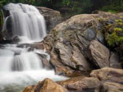водопад, муннар, природа