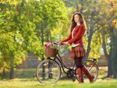 велосипедом, фотосессия, стоковое