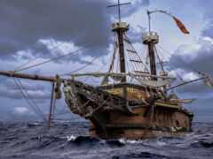 корабль, пиратский, pearl