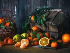 плод, оранжевый, tangerine